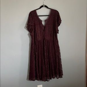 Rich Purple Torrid Mid Length Dress